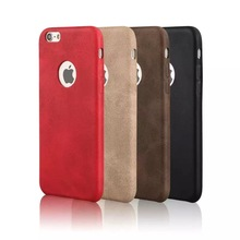 Hot sale fashion flexible soft slim PU leather back cover mobile phone protector case for iphone 6 6s plus
