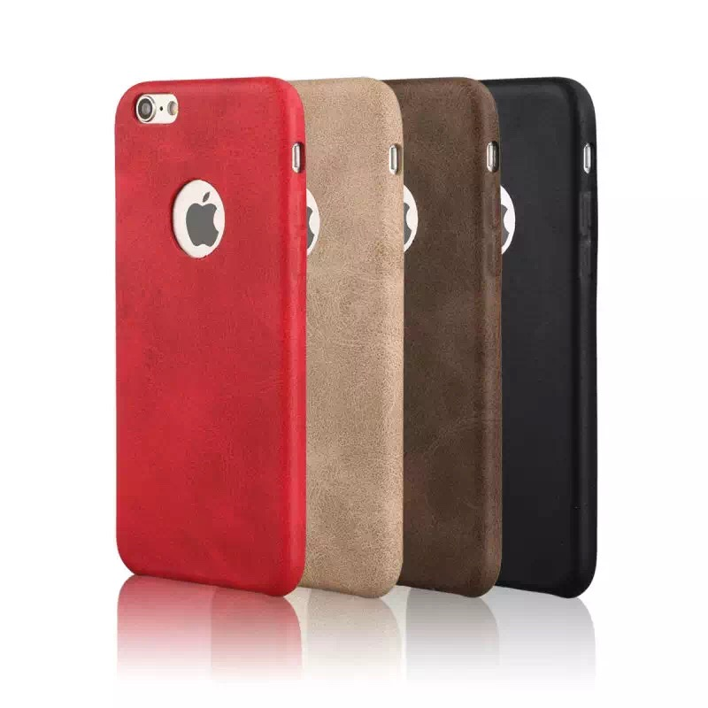 Hot sale soft PU leather back cover slim mobile phone case for iphone 6 6s plus