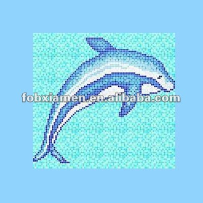 Ceramic wholesale dolphin swimming pool ceramic tiles