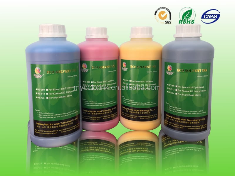 1L Package CMYK roland eco sol max ink
