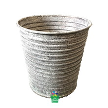 Galvanized large plant planter vintage style metal cemetery flower pot for sale