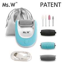 Foot Care Electric Manicure Pedicure Dry Skin Callus Remover with Interchangeable Rollers And Finger Nail Manicure Kit
