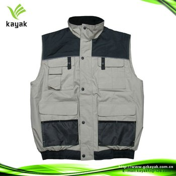 Tactical fishing vest black and gray for men