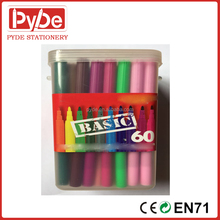 12/24/36/48 pcs felt tip water color pen for kids