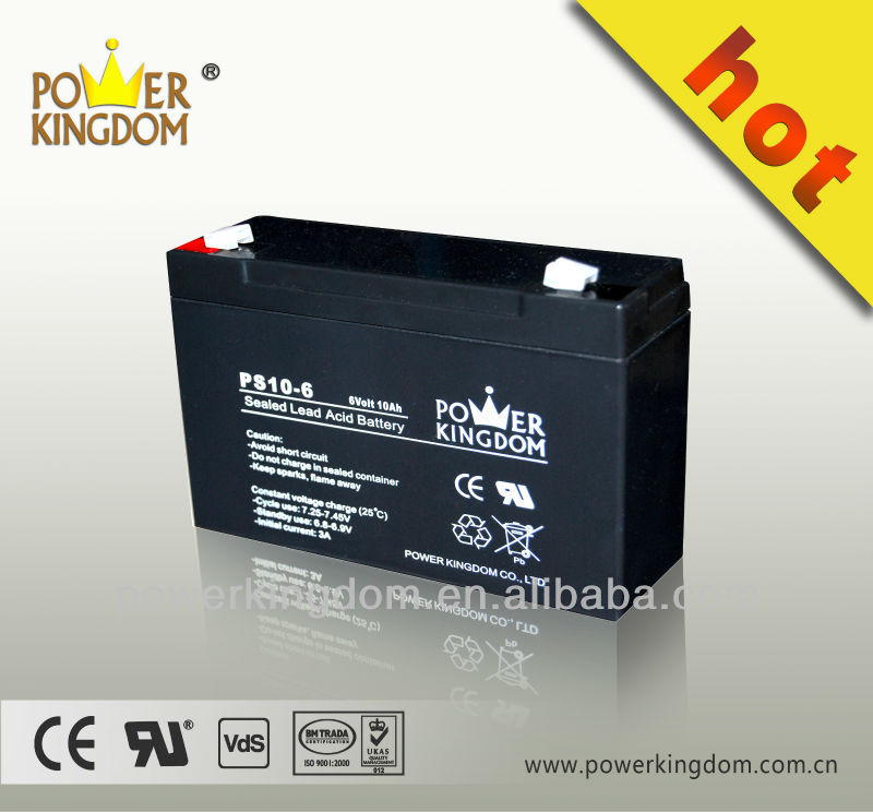 6v 10ah Sealed Lead acid storage battery/ups battery/ vrla battery