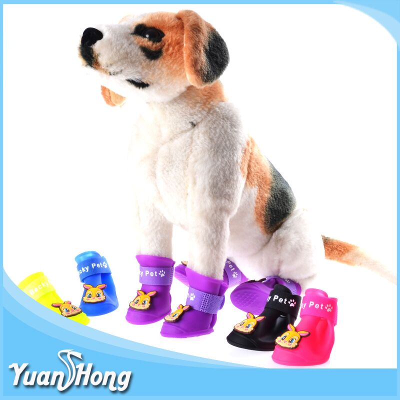 Whosales Pet Rain Boots silicone waterproof dog shoes
