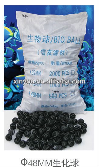 XINYOU 48mm filter ball, oxygen ball, plastic ball, water ball, bag ball, bio ball, aquarium ball packed in bag