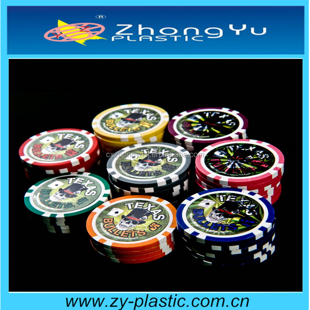13.5g clay laser stickers casino poker chips