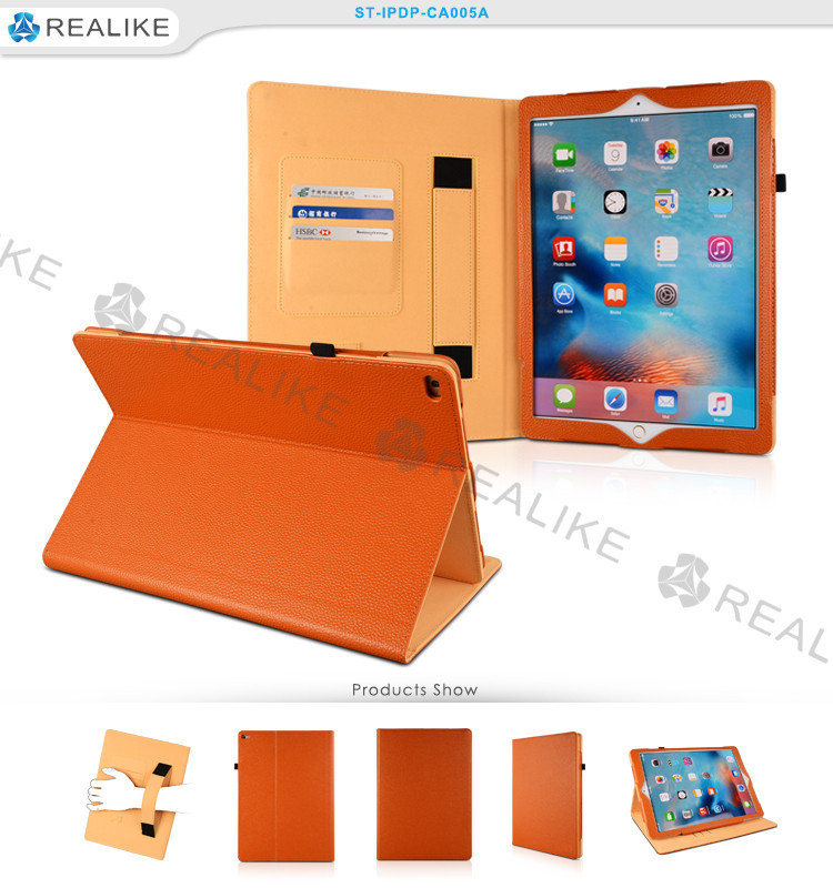 Tablet pc leather stand case for ipad air2, 9.7 inch smart leather cover for apple ipad 6