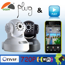 Hot sales Wireless P2P Indoor HD Ip Camera with video output CMOS 1.0 mega pixel IR distance