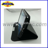 leather time show calling show Case Cover cheap high quality New Stylish Leather Case for Samsung Galaxy S4 i9500,--Laudtec