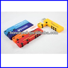 customized long plastic and aluminum truck shape USB with any logo