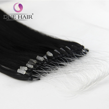 14-28 Inch 8A Micro Loop Hair Extension Wholesale 100% Remy Human Virgin Silky Straight Hair
