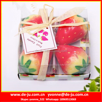 Strawberry Orange Watermelon Peach Apple Fruit Shape Candle