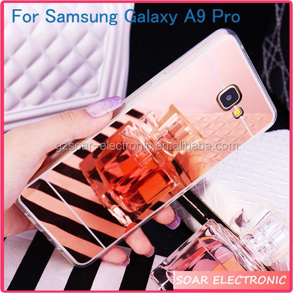 [Soar]Cover For Samsung A9 Pro, Hot Sale Mirror TPU Case Clear Bumper For Samsung Galaxy A9 Pro