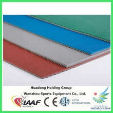 All weather athletic outdoor tennis court rubber flooring