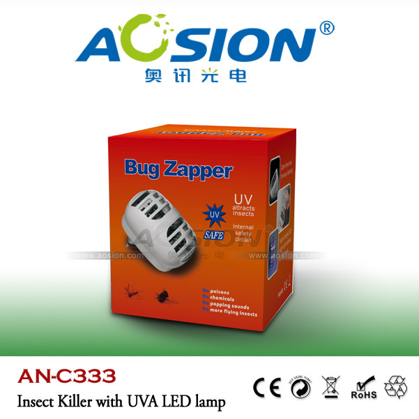 Ultrasonic uv lamp insect killer