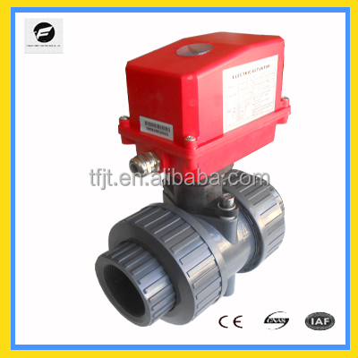 "20NM 220V/AC 2"" uion UPVC ,PVC65mm motor ball valve for <strong>water</strong> treatmen ,chill <strong>water</strong> <strong>system</strong>"