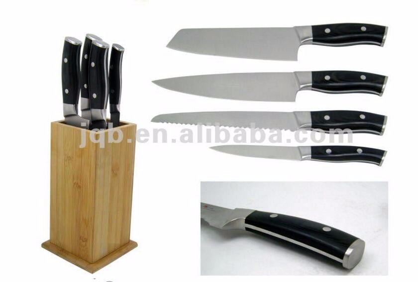 Wholesale 7Cr17MOV Steel 8 inch professional damascus chef knife with PAKKA Wood Handle