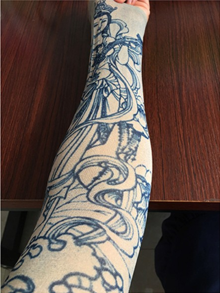 KaPin protective seamless tattoo printed arm sleeves for outdoor sports