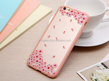 Pink Petal Flower Tree Pattern TPU Acrylic Cover For iPhone 6 6G 6S 4.7