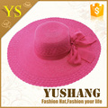 2015 new style natural color round ladies beach hats to decor