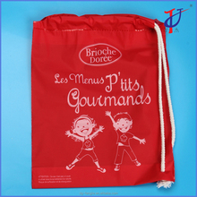 Christmas gift kid toys packaging plastic material shopping bag Red Drawstring Bag