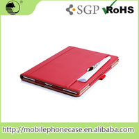 "New Products 12.9"" RED PU Tablet Leather Shell Pouch For ipad pro Tablet Case"