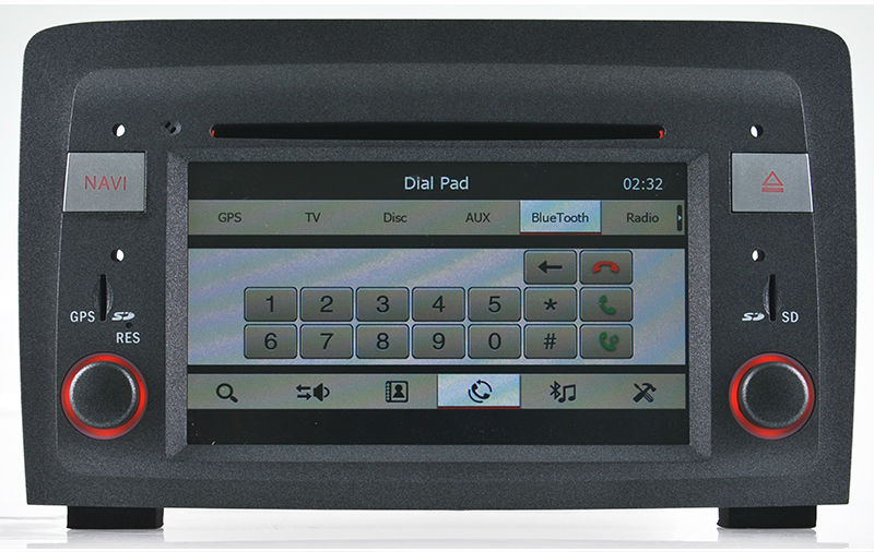 Car DVD Player for Fiat Idea/ Lancia Musa with GPS,HD Screen, Bluetooth ,Steering Wheel Control,ipod,iphone support