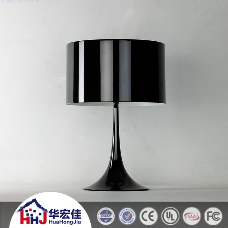 Hotel black aluminum touch sensor bedside table lamp with led light buy touch sensor bedside - Black touch lamps bedside ...
