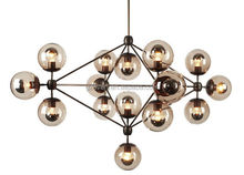 Creative glass pendant lamp led MODO chandelier Dining Room DNA Drop light 5/10/15/21heads vintage industrial lamp Jason miller