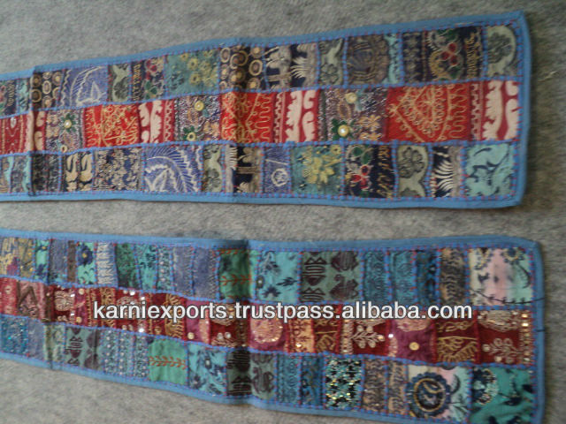 DECORATIVE TABLE RUNNER ethnic vintage look handmade handembroidered