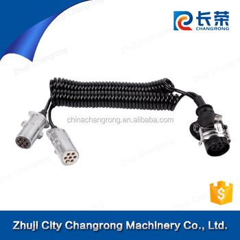 Truck trailer electrical cable suzi cable ABS EBS trailer suzi coil with 7 core electrical cable