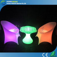 banquet music bar furniture light up colorful chairs and table