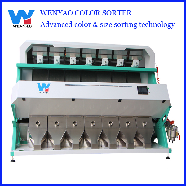 High throughput citrus color sorter machine