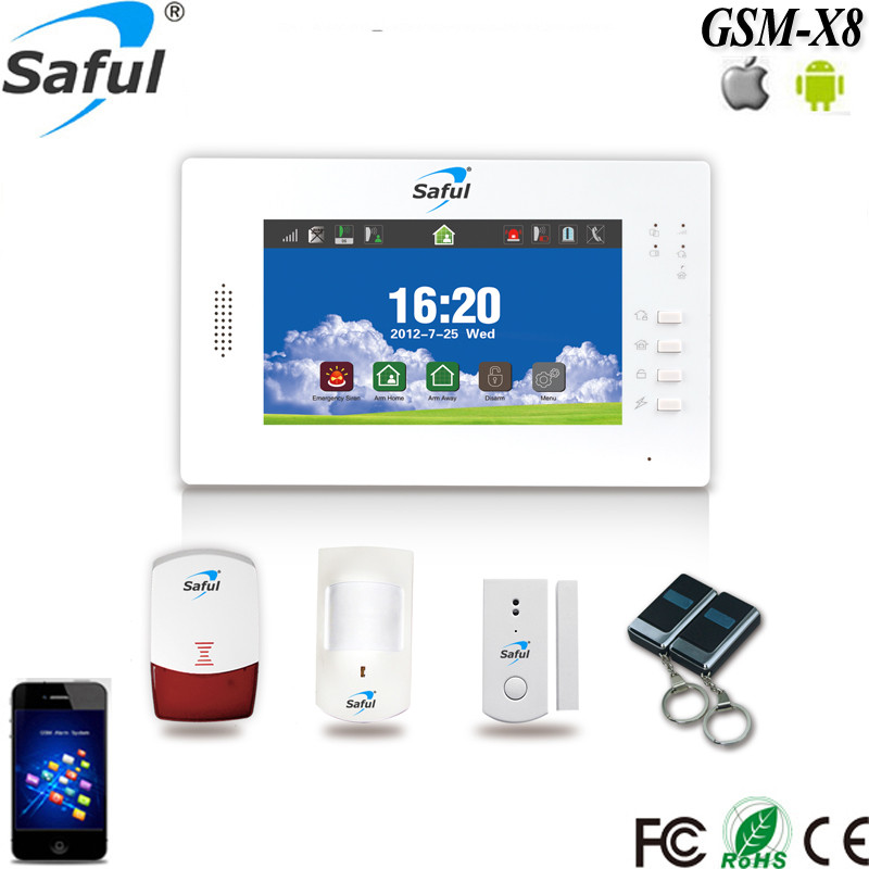 7 inch touch screen GSM/PSTN auto dialer alarm system for home automation <strong>security</strong>