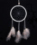 black and white Guinea Fowl dream catcher MSL15164