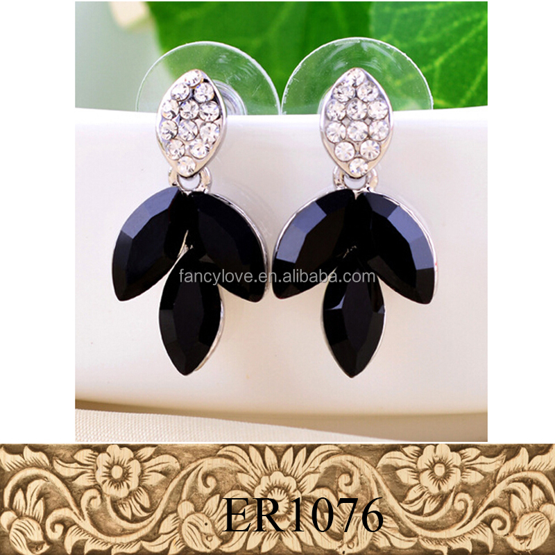 Fancylove Jewelry unique fashion design black beads earring tribal jewellery