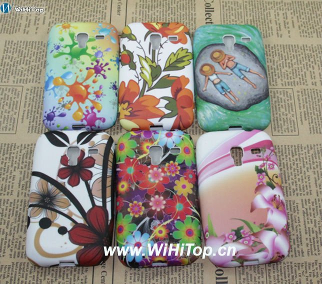 Different Designs Butterfly Flower Printing TPU Gel Skin Case for Samsung Galaxy Ace Plush S7500 S7508