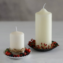 paraffin wax 3x6 Unscented white Pillar Candle with high quality