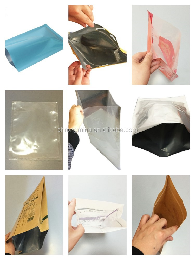 Side gusset aluminum foil chemical packaging bag for moisture resistent