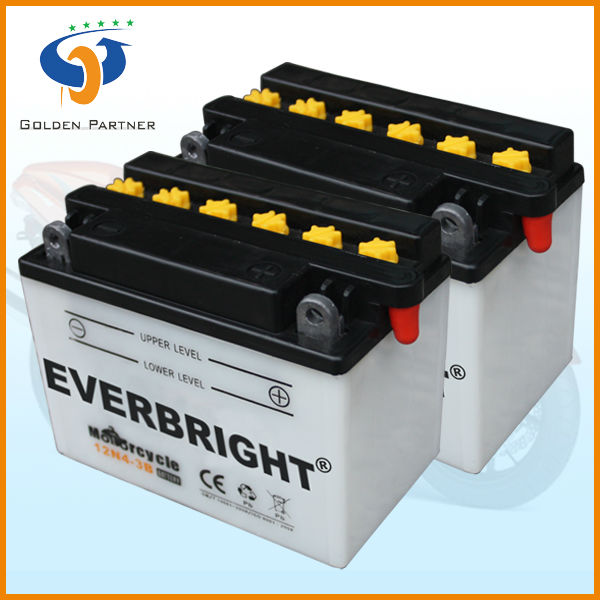 New design standard JIS capacity 12v 4ah battery and charger