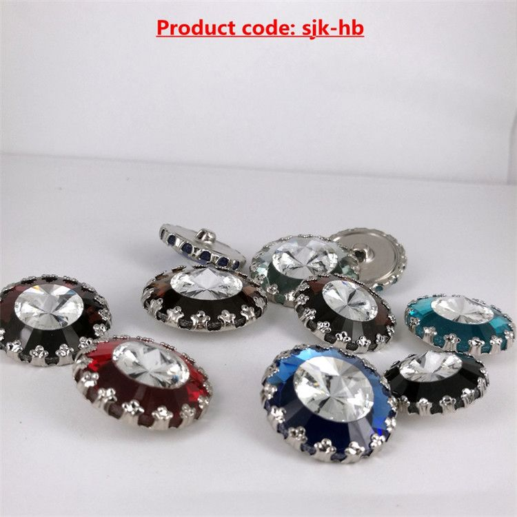 Modern style unique lace flower rhinestone press studs for garment accessories