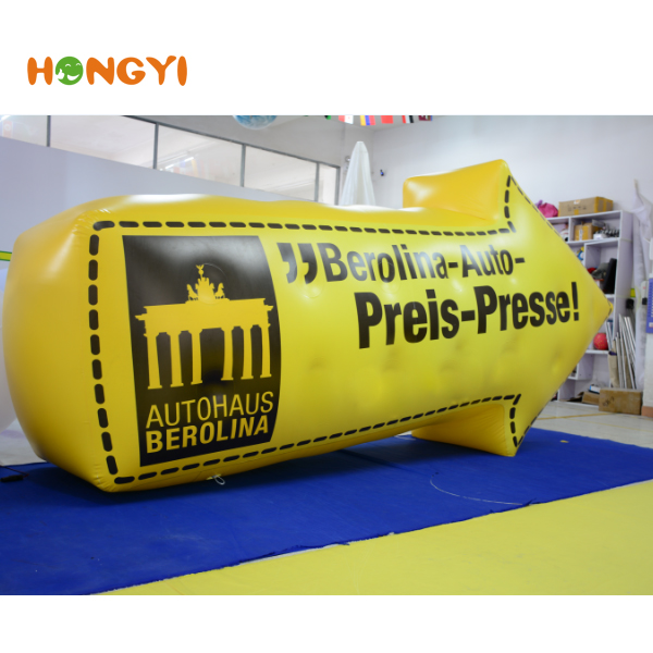 Advertising PVC large inflatable arrow direction sign model