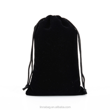 China Wholesale 10X15CM Black Jewelry Packaging Custom Velvet Drawstring Pouch Bag