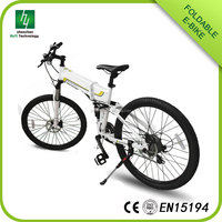 Factory direct sales E-bike LCD display folding electric bicycle mountain bike