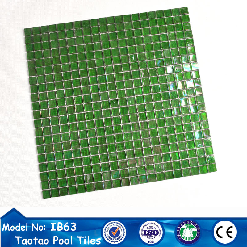Plant stand natural green mosaic floor tiles design for bathroom