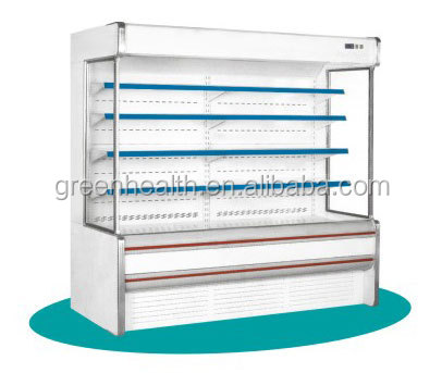 Green&Health Supermarket Commercial Refrigeration Convenient Store Coolers Used Chest Type Display Chiller for Shopping Mall