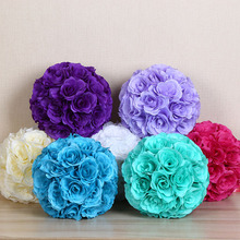 10'' Wedding and party artificial rose flower kissing ball