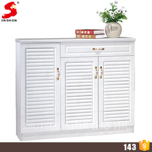 Made in China living room shoe cabinet, custom made Melamine MDF shoe rack with drawer